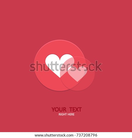Vector modern circle like heart icons background. Social media concept. Valentines day invitation. Love symbol poster
