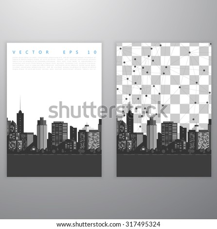 Vector modern city. Cityscape background for your design, urban art. Buildings