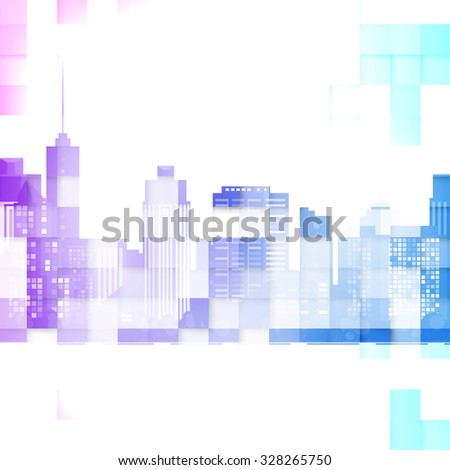 vector modern city cityscape