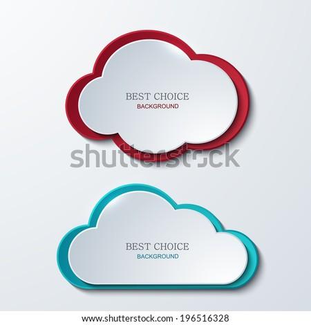 Vector modern clouds banners set 2 variants Business elemetn design Eps10