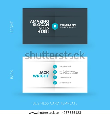 Vector modern creative and clean business card template. Flat design