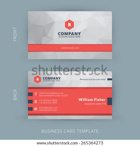 Vector modern creative and clean business card template for Business card display template