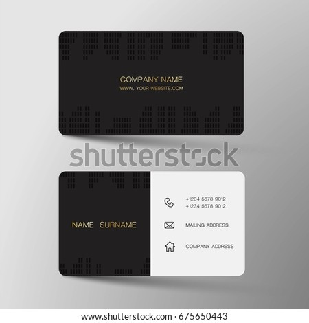 Black business card vector template download free vector art vector modern creative and clean business card template flat design colourmoves