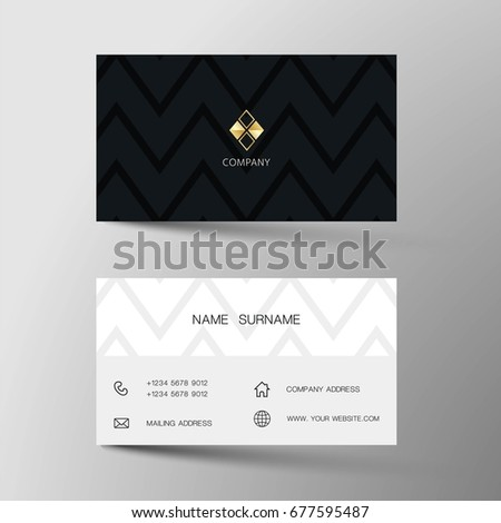 Dark clean business card template vector design illustration vector modern creative and clean business card template flat design colourmoves