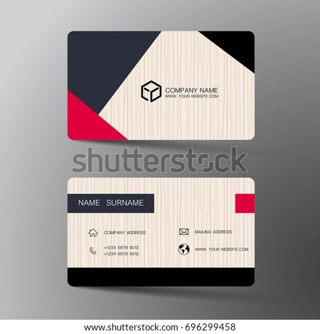 Vector modern creative and clean business card template. Flat design.
