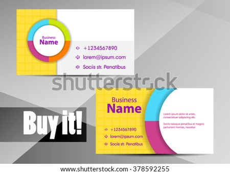 clean simple green business card design template download free
