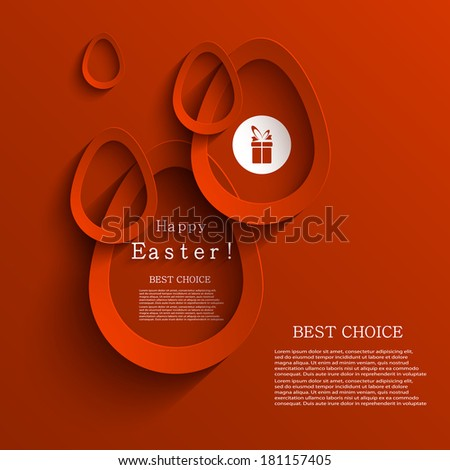 Vector modern easter egg background. Eps 10