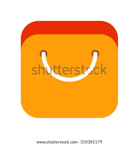 Vector modern flat app icon of online shopping. Colorful store  logo on white background