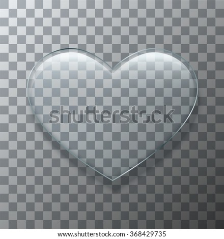 vector modern glass heart on