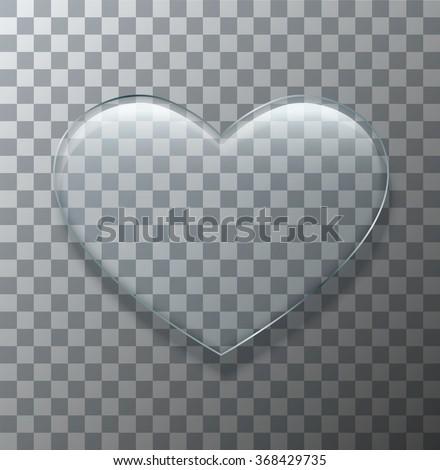 vector modern glass heart on