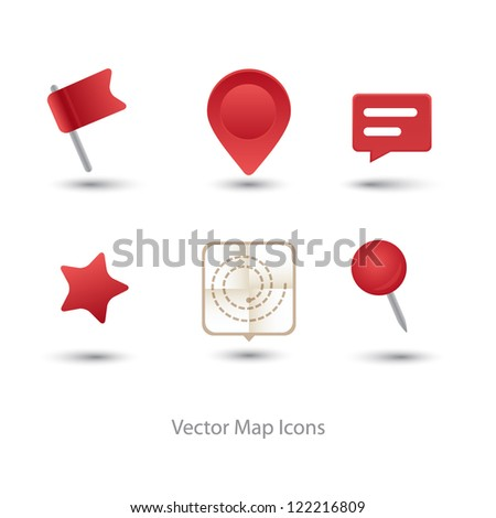 Vector modern GPS icon set