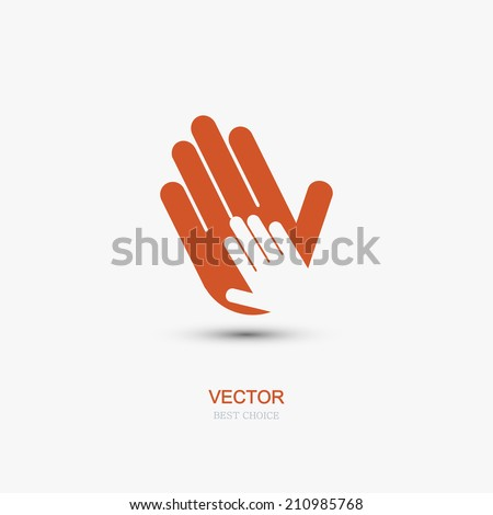 vector modern hands icon on