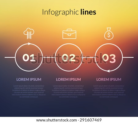 vector modern infographic with