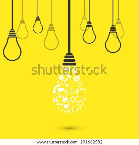 vector modern light bulb