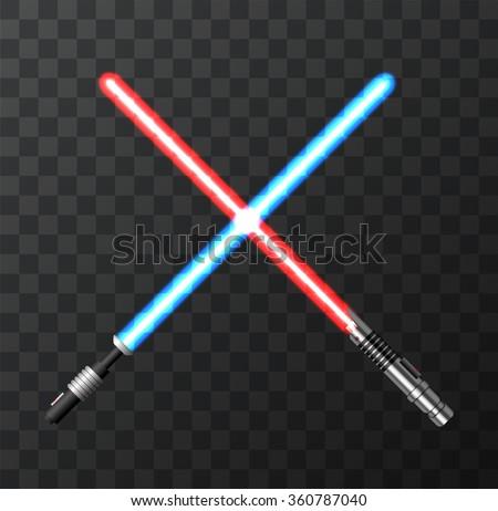 vector modern light swords on