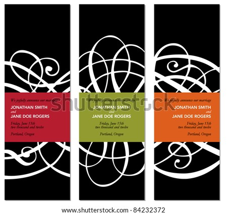 Vector Modern Matching Frame Set. Easy to edit. Perfect for invitations or announcements.