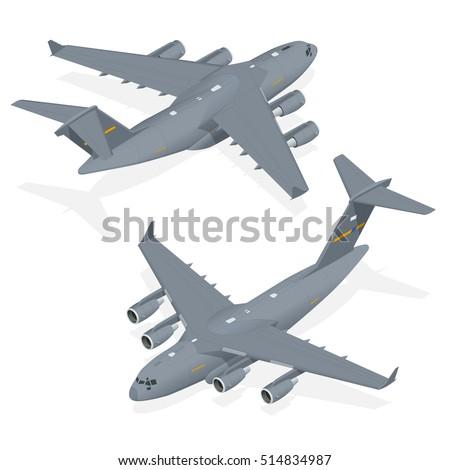 vector modern military jet for