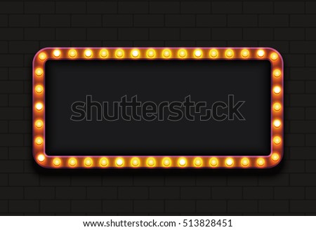 Vector modern retro billboard background with place for your text