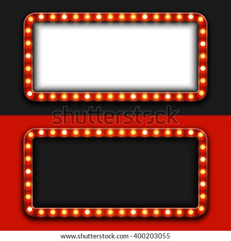 Vector modern retro billboard backgrounds with place for your text