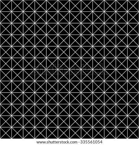 Vector modern seamless geometry pattern grid, black and white abstract geometric background, trendy print, monochrome retro texture, hipster fashion design