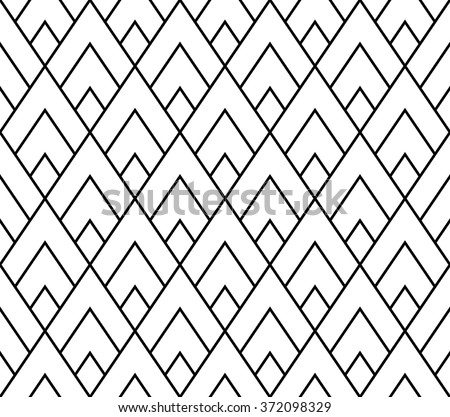 Vector modern seamless geometry pattern triangle, black and white abstract  geometric background, pillow print