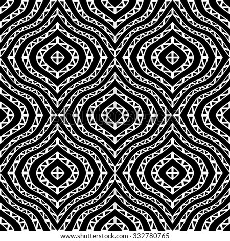 Royalty Free Stock Photos And Images Vector Modern Seamless Geometry Pattern Tribal Black And