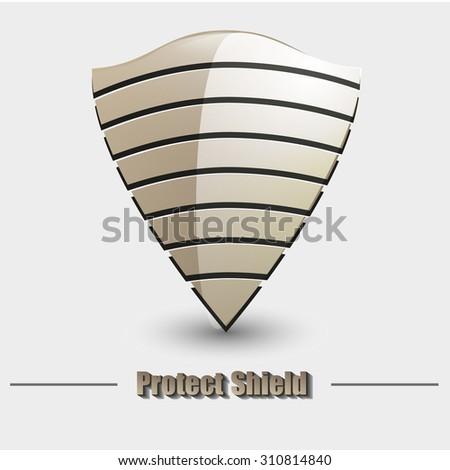 vector modern shield icon