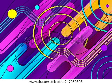 Vector Modern Style Colorful Abstract Wallpaper Of Web Banner Poster Background With Trendy