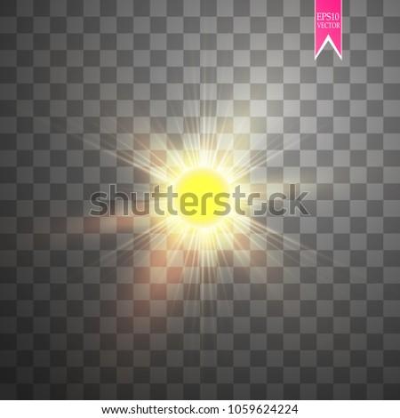 vector modern sun set on sample