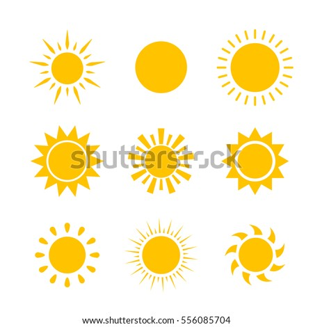 vector modern sun set on sample