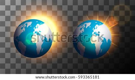 vector modern sunrise over the