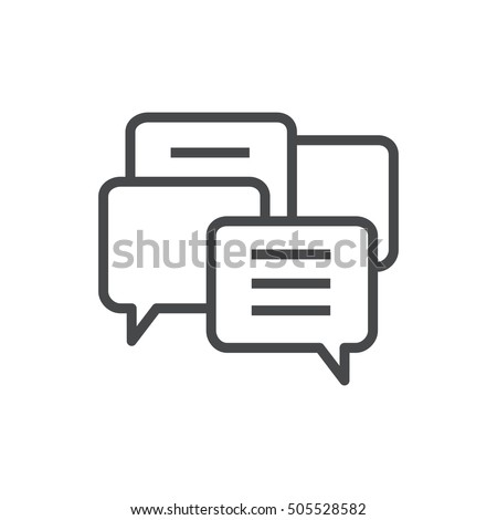 Vector modern thin line icon on white