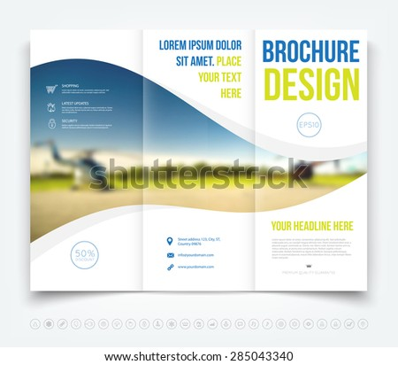 tri fold mockup brochure design template vector download free