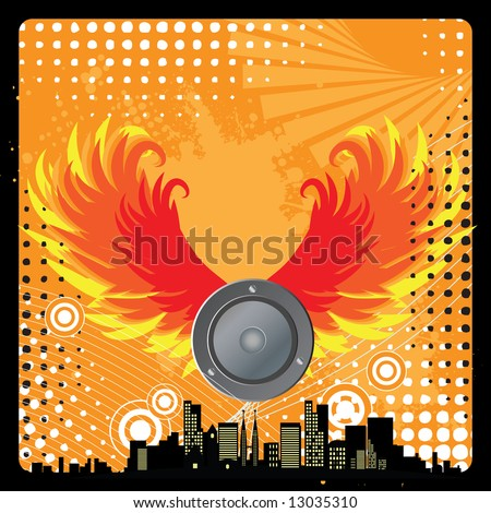 Musical notes fire treble clef flame heart music and flame