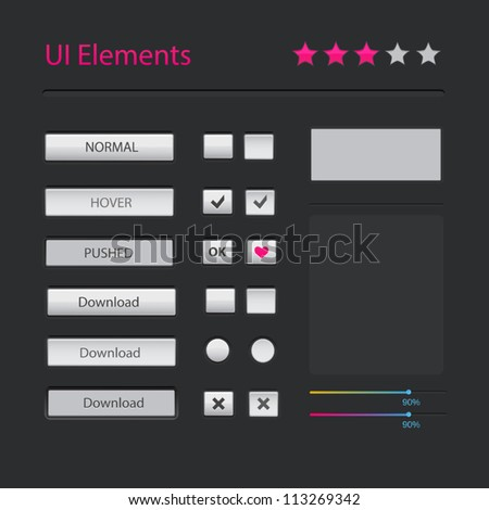 Vector modern user interface elements - stock vector