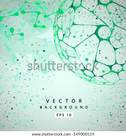 Vector molecular Structure grunge background