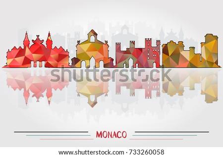 vector monaco city background