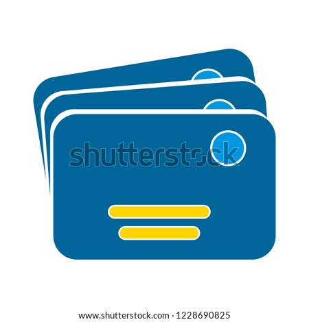 vector money cards icon. bank debit or credit card - payment illustration