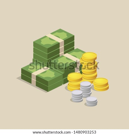 Vector Money design background, illustration