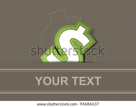 vector money icon dollar design, business background