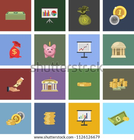 vector money Investment Icons - financial banking sign, money loan and payment symbols