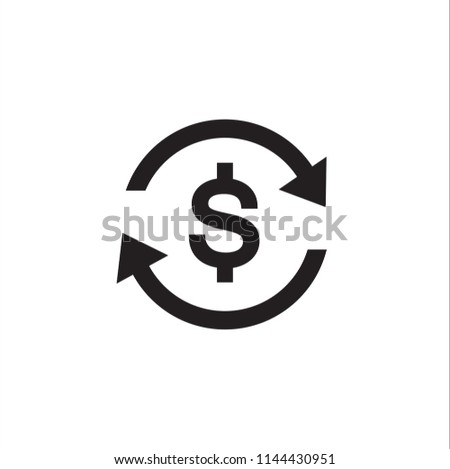 Vector money transfer Icon on white background