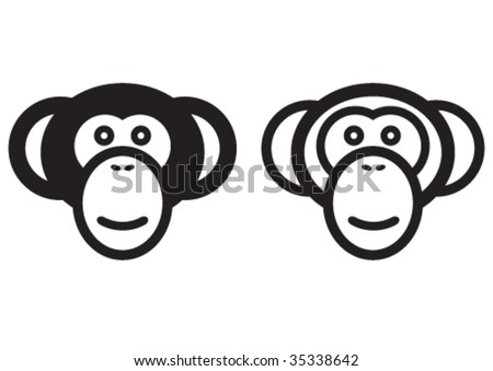 Vector monkey signs.