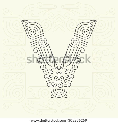vector mono line style