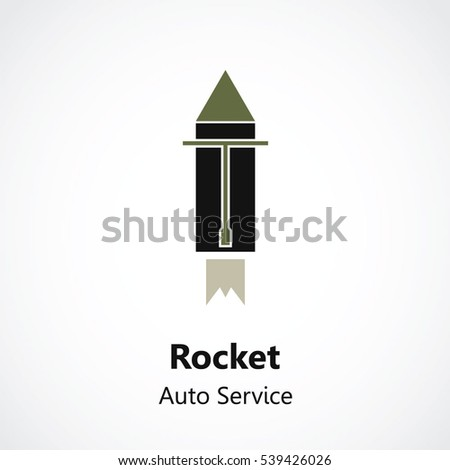 vector monochrome car service logo garage car repair service and tuning label, mechanical tool service icon #539426026