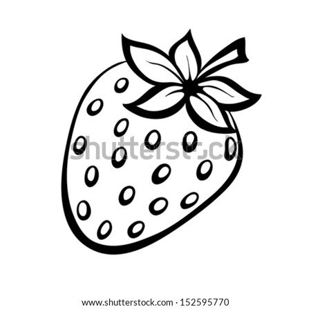 Vector monochrome illustration of strawberries logo Many similarities to the author's profile