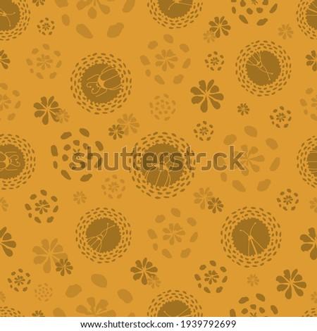 vector monochrome ocher yellow