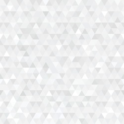 Vector monochrome triangular mosaic seamless texture. Abstract geometric pattern. Low poly background.