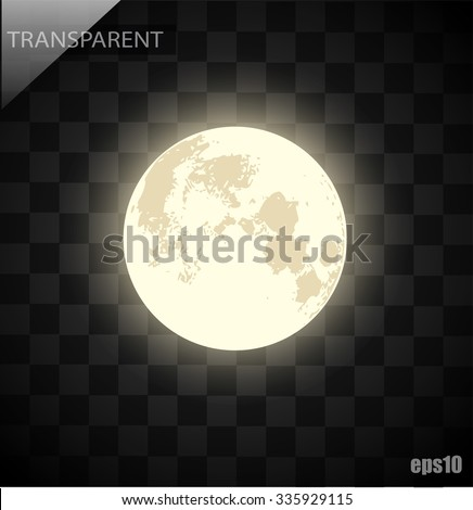 Vector moon on a transparent background