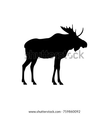 vector moose silhouette